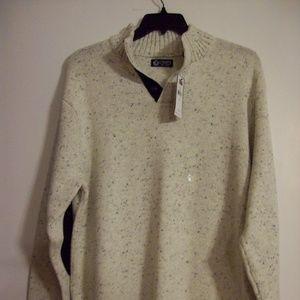 Chaps Men's XL Sagamore Patched Elbow Sweater